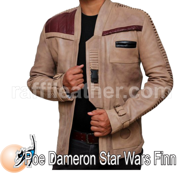 Jaket Kulit Film/Movie Poe Dameron Star Wars Finn